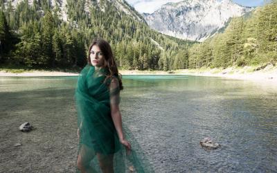 Grüner See, Model Stephanie Lackner