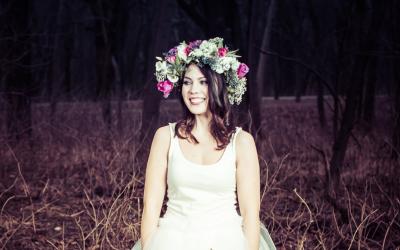 Blumen-Fotoshooting, Model: Katharina Edinger