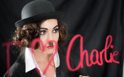 Charlie Chaplin Shooting, Model: Katharina Edinger